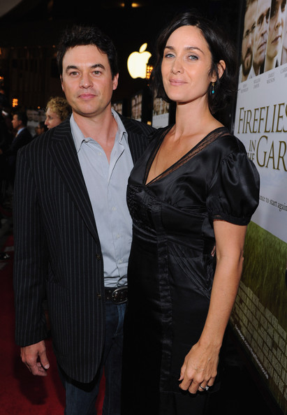 Carrie-Anne Moss with cool, friendly, fun, Husband Steven Roy