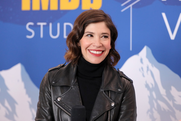 The IMDb Studio At Acura Festival Village On Location At The 2020 Sundance Film Festival – Day 3 [the nowhere inn,spokesperson,television presenter,smile,jacket,leather,newscaster,carrie brownstein,location,acura festival village,utah,park city,imdb studio at acura festival village on location,imdb studio,sundance film festival,carrie brownstein,the nowhere inn,2020 sundance film festival,festival,imdb,2020,film director,sundance film festival,bill benz]