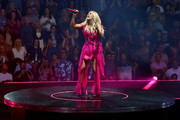 (EXCLUSIVE COVERAGE) Carrie Underwood performs onstage at Staples Center on September 12, 2019 in Los Angeles, California.