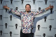 Penn Jillette of the comedy/magic team Penn & Teller attends Carrot Top's 10th-anniversary celebration of his residency at the Luxor Hotel and Casino on December 6, 2015 in Las Vegas, Nevada.