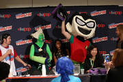 Actor Eric Bauza, actress Shelby Rabara and animator Niki Yang greet costume contest winners onstage at the Cartoon Network Screening: Steven Universe. Cartoon Network at New York Comic Con at Jacob Javitz Center on October 10, 2015 in New York, United States. 25749_001 337.JPG