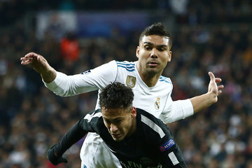 Casemiro Real Madrid v Paris Saint-Germain - UEFA Champions League Round of 16: First Leg