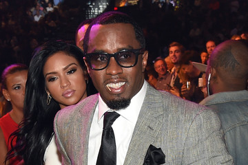 Cassie Sean Combs Ringside At 'Mayweather VS Pacquiao'
