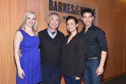 "(L-R) Actors Katie Rose Clarke, George Takei, Lea Salonga and Telly Leung promote the original Broadway cast recording of ""Allegiance"" at Barnes & Noble, 86th & Lexington on February 5, 2016 in New York City."