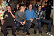(L-R) Actors Dayton Callie, Theo Rossi, Kim Coates and Charlie Hunnam attend Cast of FX's 'Sons of Anarchy' Host 'Boot Bash' benefiting The Boot Campaign at The Bunker Lofts on August 2, 2014 in Los Angeles, California.