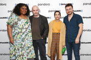 Da'Vine Joy Randolph, Nick Hornby, Zoe Kravitz and David H. Holmes of Hulu's High Fidelity sit down for an interview at the SiriusXM Studios on February 14, 2020 in New York City.