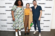 Da'Vine Joy Randolph, Zoe Kravitz and David H. Holmes of Hulu's High Fidelity sit down for an interview at the SiriusXM Studios on February 14, 2020 in New York City.