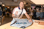 """Spencer Pratt visits """"Extra"""" at The Levi's Store Times Square on June 11, 2019 in New York City."""