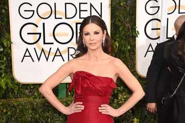 Catherine Zeta-Jones Arrivals at the Golden Globe Awards — Part 2