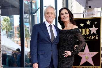 Catherine Zeta-Jones Michael Douglas Honored With Star On The Hollywood Walk Of Fame