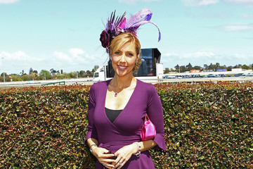 Catriona Rowntree Celebrities Attend BMW Caulfield Cup Day