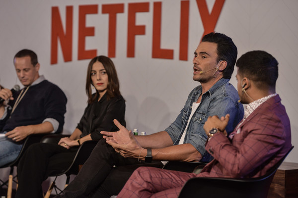Netflix Slate Event 2018 in Colombia [local originals,red,yellow,event,youth,community,conversation,interaction,adaptation,design,businessperson,vp,r,cecilia suarez,juan pablo raba,erik barmack,christian navarro,colombia,netflix,netflix slate event]