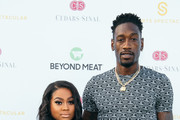 Larry Sanders (R) and guest attend the Cedars-Sinai and Sports Spectacular's 34th Annual Gala at The Compound on July 15, 2019 in Inglewood, California.