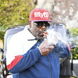 Cedric the Entertainer Mel's Drive-In On Sunset Boulevard Hosts Classic Car Meet