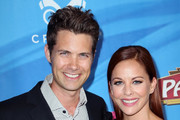 """Actors Drew Seeley (L) and Amy Paffrath attend a celebration of the Los Angeles engagement of """"On Your Feet!"""", the Emilio and Gloria Estefan Broadway musical, at the Pantages Theatre on July 10, 2018 in Hollywood, California."""