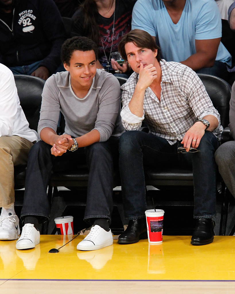 Father-Son Seats - Courtside with the Stars - Celebs at ... Tom Cruise Movies List