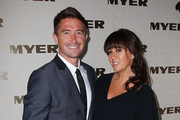Harry Kewell and his wife Sheree Murphy attend the Myer marquee on Melbourne Cup Day at Flemington Racecourse on November 1, 2011 in Melbourne, Australia.