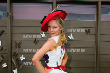 Charli Delaney Celebrities Attend Melbourne Cup Day