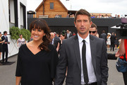 Harry Kewell and his wife Sheree Murphy arrive to attend Melbourne Cup Day at Flemington Racecourse on November 1, 2011 in Melbourne, Australia.