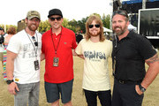 US Veteran and former contestant on Dancing with the Stars Noah Galloway, Co-Owner/Festival Promoter Shane Quick, Recording Artist Andrew Leahey with US Veteran Chad Fleming backstage during The 4th Annual Pepsi's Rock The South Festival - Day 2  at Heritage Park in Cullman, Alabama.
