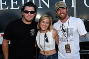 Recording Artist DeeJay Silver, Singer/Songwriter Mary Sarah and Noah Galloway former US Army and Contestant on Dancing with the Stars backstage during The 4th Annual Pepsi's Rock The South Festival - Day 2  at Heritage Park in Cullman, Alabama.