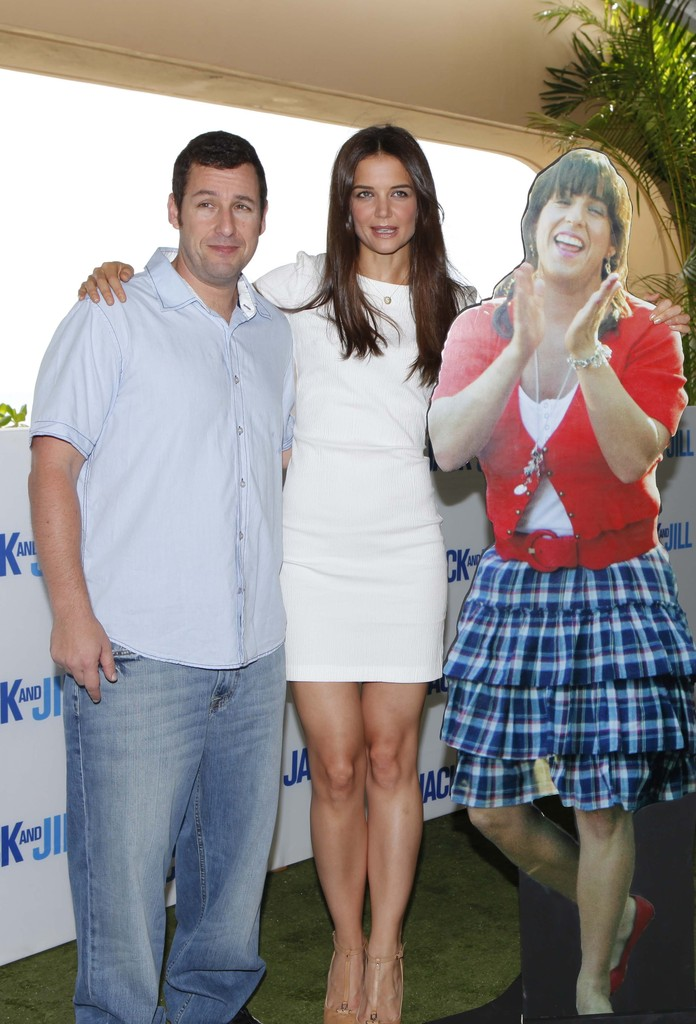 She poses with Adam Sandler — and his cardboard cut-out ... Katie Holmes Friends