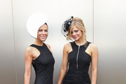 Esther Anderson and Samara Weaving attend Victoria Derby Day at Flemington Racecourse on October 29, 2011 in Melbourne, Australia.
