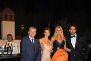 Tarak Ben Ammar, Martina Colombari, Tiziana Rocca and Sergio Muniz attend cocktail party hosted by the Lancia Cafe during the 57th Taormina Film Fest on June 16, 2011 in Taormina, Italy.