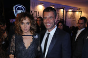 Valeria Golino and Ivan Cotroneo attend a cocktail party hosted by the Lancia Cafe during the 6th Rome Film Festival on November 2, 2011 in Rome, Italy.