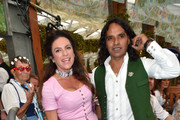 Christine Neubauer and her boyfriend Jose Campos sighted at the Hofbraeu beer tent during the Oktoberfest 2015 Opening at Theresienwiese on September 19, 2015 in Munich, Germany.