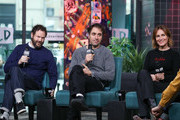 """Kyle Marvin, Michael Angelo Covino and Judith Godrèche visit BUILD to discuss """"The Climb"""" at Build Studio on March 12, 2020 in New York City."""