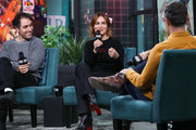 """Michael Angelo Covino and Judith Godrèche visit BUILD to discuss """"The Climb"""" at Build Studio on March 12, 2020 in New York City."""