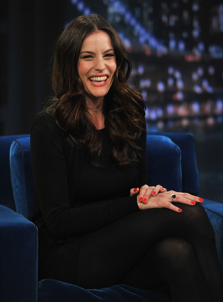"Actress Liv Tyler visits ""Late Night With Jimmy Fallon"" at Rockefeller Center on March 29, 2011 in New York City."