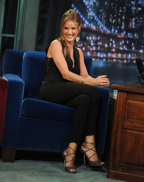 "Model/Actress Rosie Huntington-Whiteley visits ""Late Night With Jimmy Fallon"" at Rockefeller Center on June 16, 2011 in New York City."