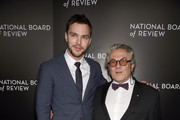 Actor Nicholas Hoult (L) and director George Miller attend the 2015 National Board of Review Gala at Cipriani 42nd Street on January 5, 2016 in New York City.