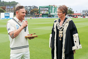 Celia Wade-Brown New Zealand v Sri Lanka - 2nd Test: Day 1