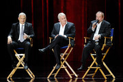 (L-R) Caesars Palace President Gary Selesner, co-CEO and president of AEG Live/Concerts West John Meglen and producer/director Ken Ehrlich attend a news conference after singer Celine Dion performed during the first night of her new show at The Colosseum at Caesars Palace March 15, 2011 in Las Vegas, Nevada. Dion, who ended a five-year run at The Colosseum in December of 2007, is beginning a three-year residency at the 4,300-seat venue. Ehrlich serves as director of her show.