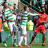 Mikael Lustig Shay Logan Photos - Shay Logan (R), of Aberdeen clashes with Mikael Lustig (L), of Celtic after the final whistle resulting in a red card for Shay Logan during the Scottish Premier League match between Celtic and Aberdeen at Celtic Park on May 13, 2018 in Glasgow, Scotland. - Celtic v Aberdeen - Scottish Premier League