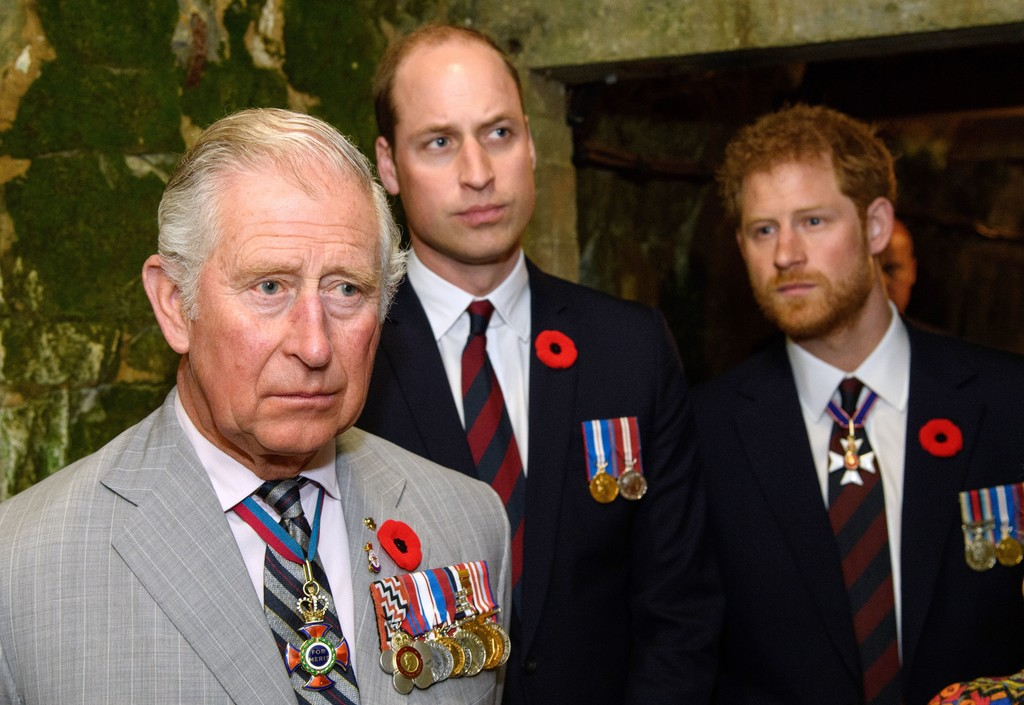 Both Prince Charles and Prince William (pictured left) share Arthur as a middle name.