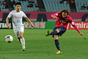 Diego Forlan #10 of Cerezo Osaka in action during the AFC Champions League Group E match between Cerezo Osaka and Shandong Luneng FC at Nagai Stadium on March 11, 2014 in Osaka, Japan.