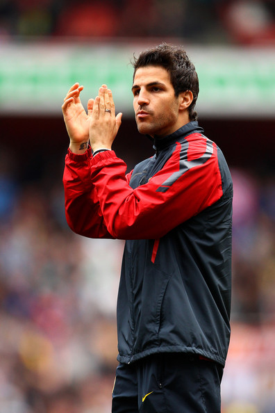 Cesc Fabregas Cesc Fabregas of Arsenal applauds the fans during a lap of honour after the Barclays Premier League match between Arsenal and Aston Villa at the Emirates Stadium on May 15, 2011 in London, England.