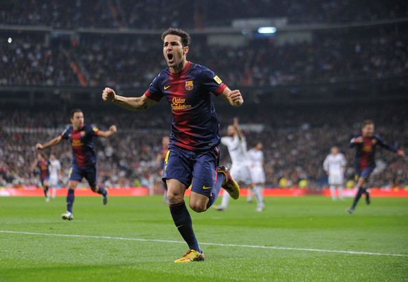Cesc Fabregas - Real Madrid CF v FC Barcelona - Copa del Rey - Semi Final First Leg