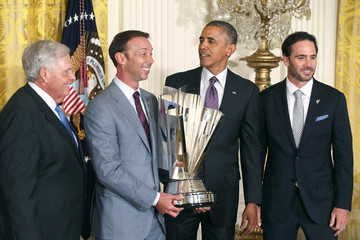 Chad Knaus Barack Obama Welcomes NASCAR Champion Jimmie Johnson