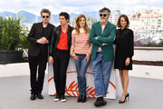 """(L-R) Benjamin Biolay, Vincent Lacoste, Chiara Mastroianni, Director Christophe Honore and Camille Cottin attend the photocall for """"Chambre 212"""" during the 72nd annual Cannes Film Festival on May 20, 2019 in Cannes, France."""
