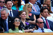 Prince Edward, Duke of Kent and Dame Mitsuko Uchida attend the Gentlemen's Singles Final match between Andy Murray of Great Britain and Novak Djokovic of Serbia on day thirteen of the Wimbledon Lawn Tennis Championships at the All England Lawn Tennis and Croquet Club on July 7, 2013 in London, England.