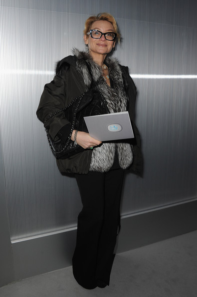Evelina Khromchenko attends the Chanel Haute-Couture Spring / Summer 2012 Show as part of Paris Fashion Week at Grand Palais on January 24, 2012 in Paris, France.