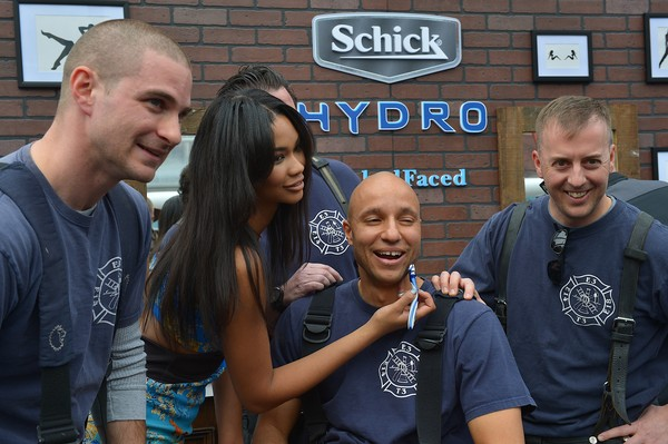 Sports Illustrated Swimsuit Models Help Nashville Firefighters Get #NakedFaced At the Schick Hydro Barbershop To Celebrate The 2015 Sports Illustrated Swimsuit Edition At Swimville in Nashville