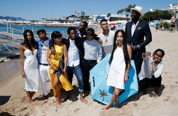 'Dope' Photocall - The 68th Annual Cannes Film Festival [dope photocall,people,tourism,yellow,community,youth,water,beach,fun,vacation,summer,pharrell williams,rick famuyiwa,shameik moore,zoe kravitz,tony revolori,amin joseph,front,l-r,cannes film festival]