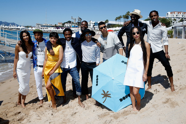 'Dope' Photocall - The 68th Annual Cannes Film Festival [dope photocall,people,community,fun,tourism,beach,summer,friendship,vacation,sand,photography,pharrell williams,rick famuyiwa,shameik moore,zoe kravitz,tony revolori,amin joseph,front,l-r,cannes film festival]