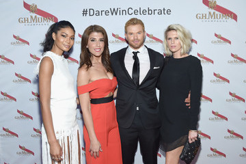 Chanel Iman Mumm Champagne Celebrates New 'Daring Delivery' Film With Kellan Lutz